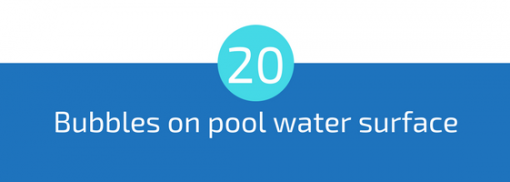 bubbles or foam on pool water surface pool troubleshooting guide 25 most common pool water problems