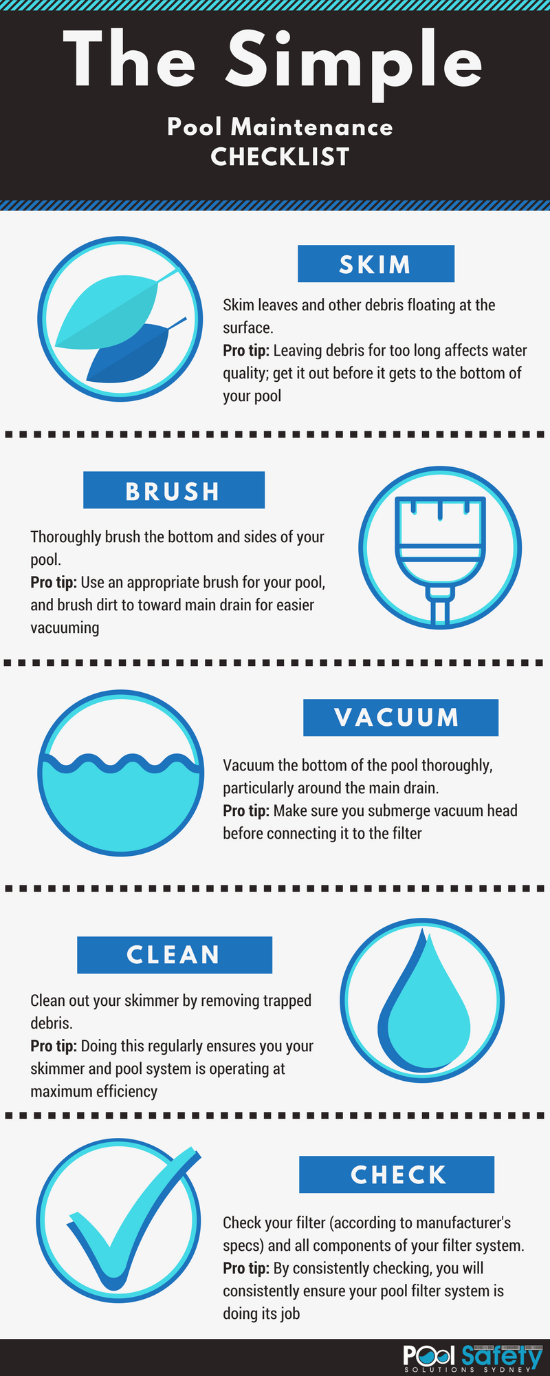 pool maintenance checklist
