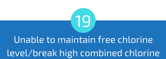 unable to maintain free chlorine level or break high combined chlorine troubleshooting pools guide 25 most common pool water problems