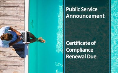 Public Service Announcement: Pool Certificate of Compliance Renewal Due